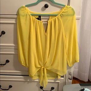 Yellow dress shirt